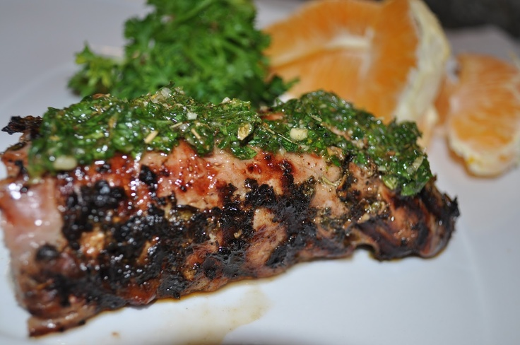 Grilled Pork Tenderloin with Chimichurri | Paleo.... here-we-go! | Pi ...