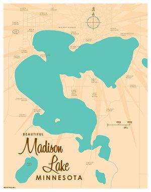 Madison Lake MN Map  Lakebound Maps  Pinterest