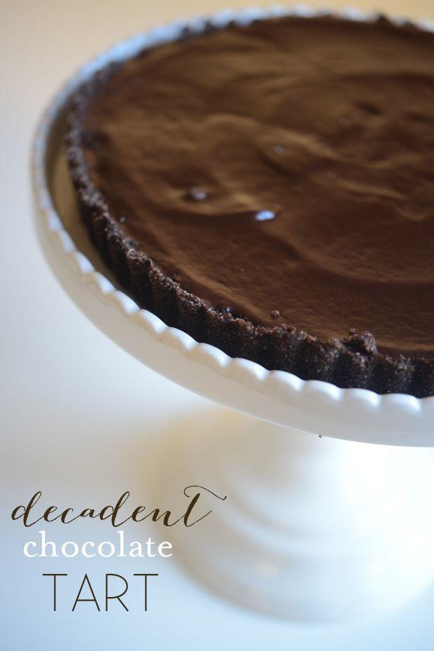 Glazed Chocolate Tart | Chocolate Tarts & Tarlets | Pinterest