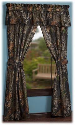 Pro shops mossy oak break up camouflage rod pocket drapes or valance