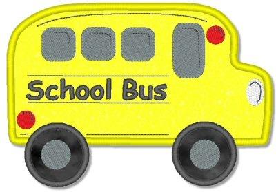 School Bus Appliqué by Hug Longer | Embroidery Pattern