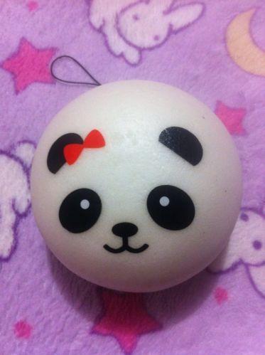 Kawaii Squishy Marshmallow Bun : Jumbo Panda Bun Squishy Red Bow Kawaii Bread Squishies Pastel Goth Cu?