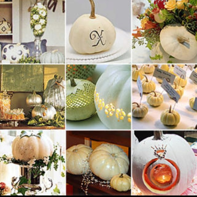 Fall Wedding Decorations With Pumpkins : Decoration ideas white pumpkin fall wedding