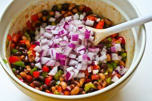 ... Salad with Black Beans, Black-Eyed Peas, Peppers, and Cilantro | Low