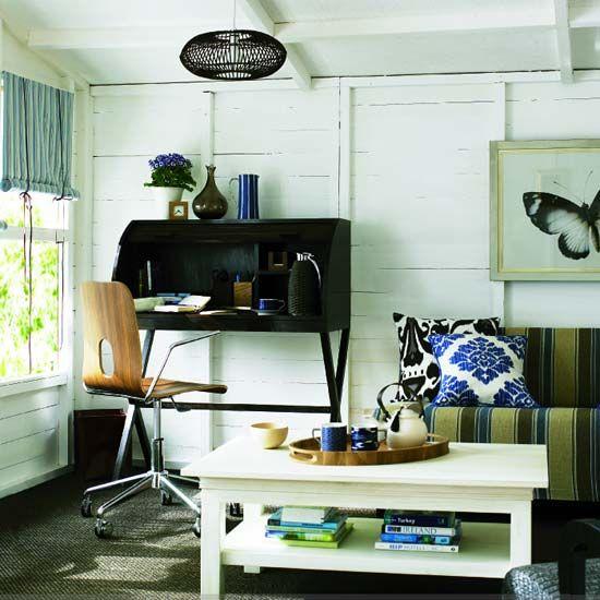 Counter Height Work Station : minimalist desk Office - Wood & darks Pinterest