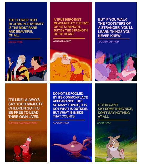 Wise words from Disney