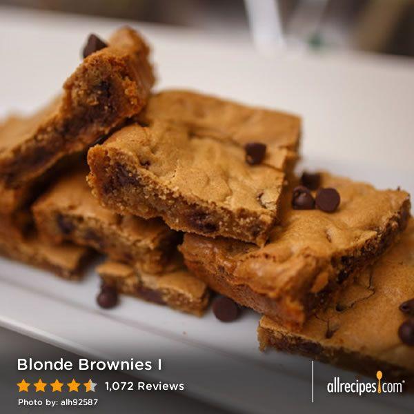 Blonde Brownies I | Recipe