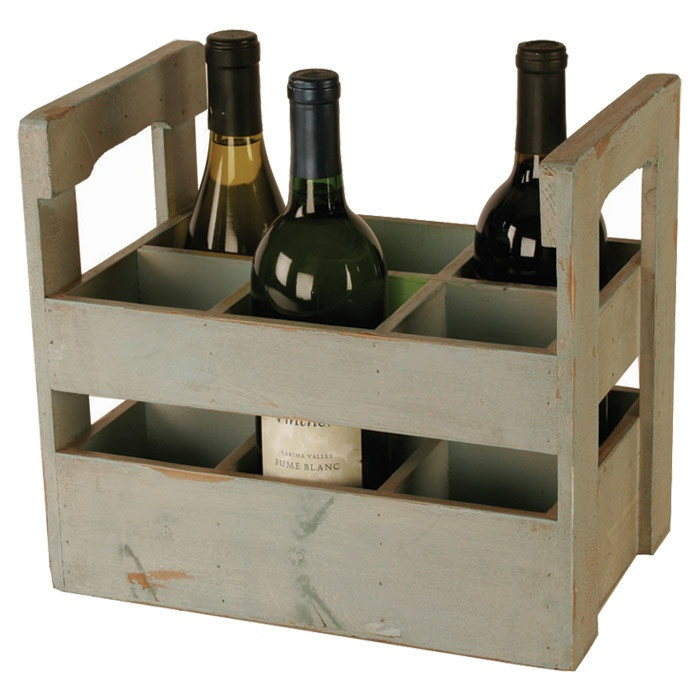Wooden Wine Crate  Decor  Pinterest