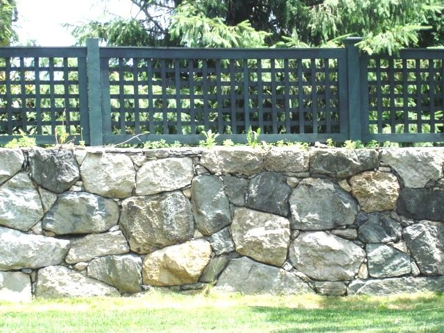 green wood square lattice fence wood fence pinterest