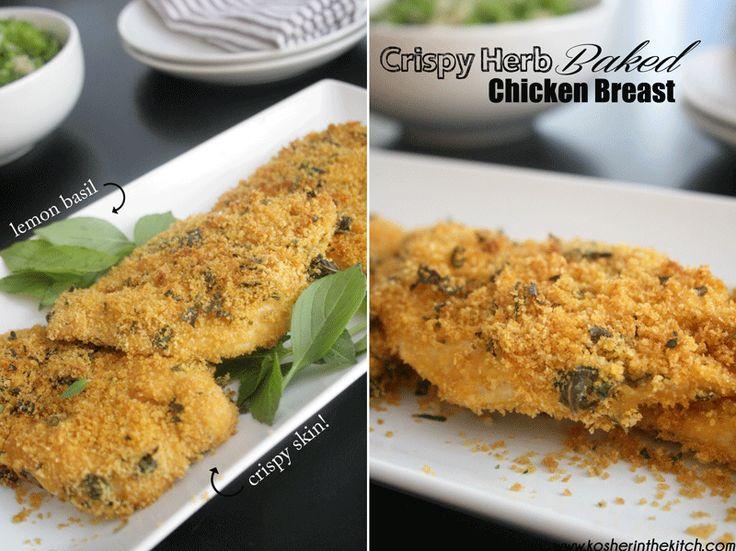 crispy herb baked chicken breast   Chicken   Pinterest