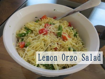 Two Magical Moms: Lemon Orzo Pasta Salad with Asparagus and Tomatoes
