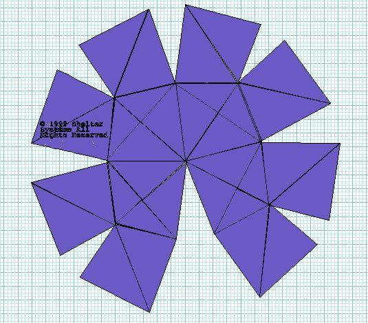 Как сделать развертку купола из бумаги