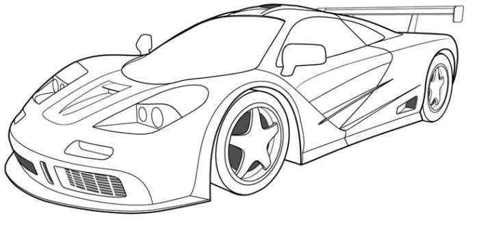 Mclaren Car Coloring Pages : Free coloring pages of mclaren p