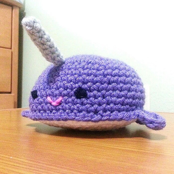 Crochet narwhal, free pattern on Ravelry Yarn Pinterest