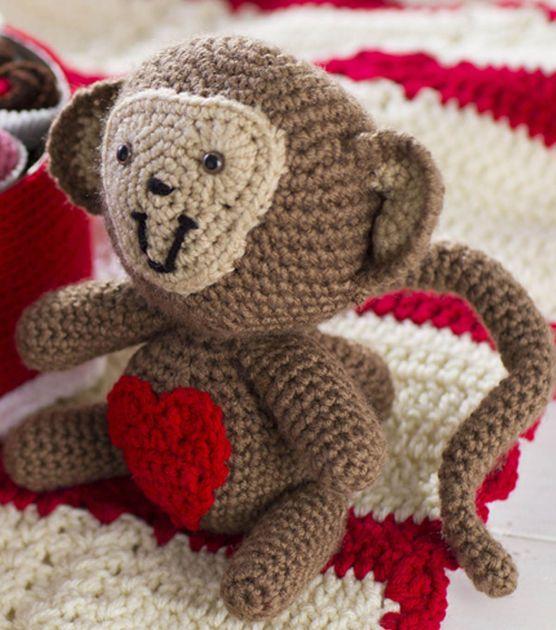 Amigurumi Crochet Heart Monkey
