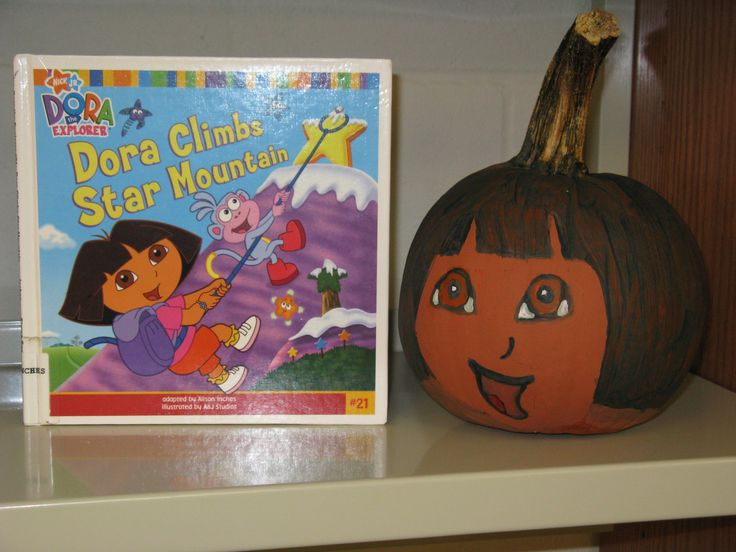 Dora the Explorer  - Book Character Pumpkin (Pumpkin Painting 2008)