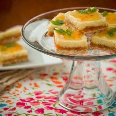 Recipes - Apricot Orange Marmalade Cheesecake Bars--Luscious dessert ...