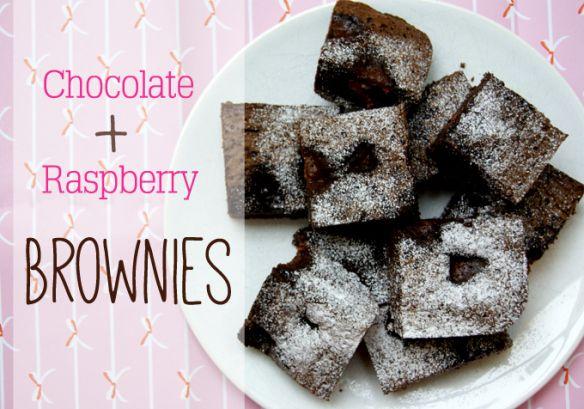 Chocolate Raspberry Brownies | Eat Dessert First! | Pinterest