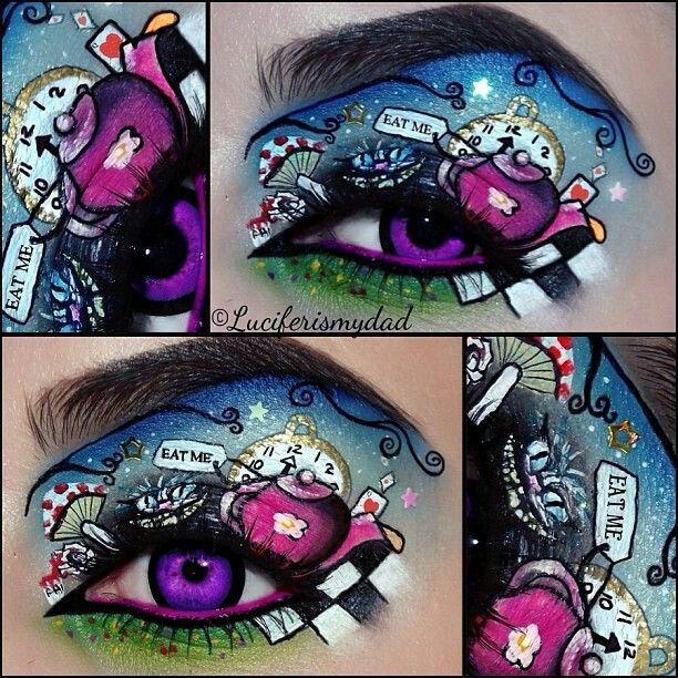 alice in wonderland inspired makeup beauty pinterest