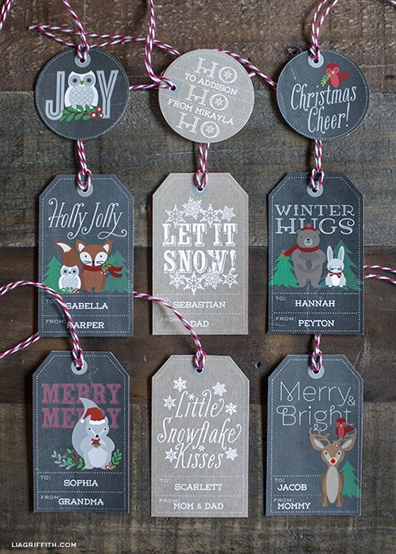 printable woodland gift tags