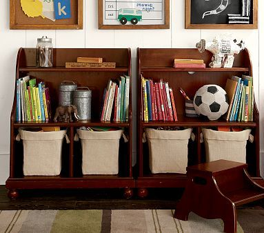 Catalina Console Bookcase #pbkids - something similar for girl's room