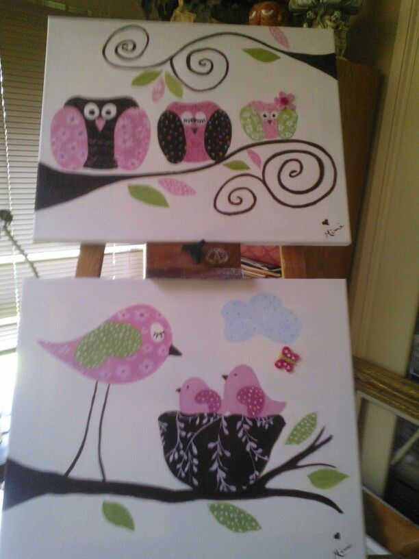 woodland owl baby girl shower paintings baby shower ideas pintere