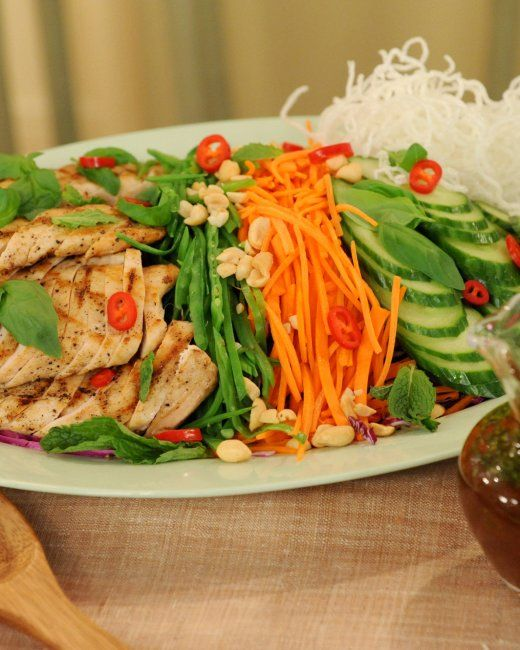 Grilled Chicken Salad with Thai Lime-Chile Vinaigrette | Recipe