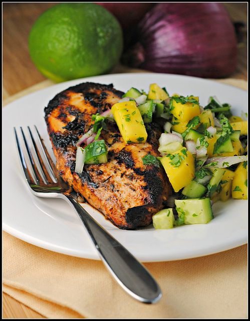 Jamaican Jerk Chicken with Mango Salsa | The Book of Noms ...