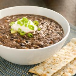 Black Bean and Salsa Soup | Easy Recipes | Pinterest