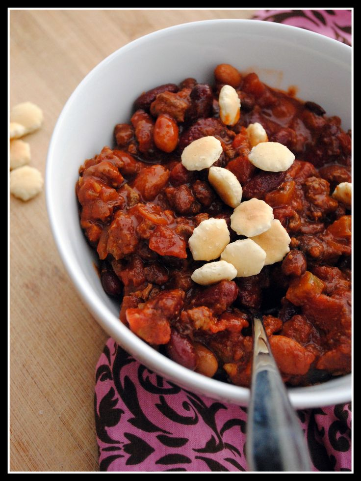 Three Bean and Beef Chili in Slow Cooker | Homestyle/Comfort Dinners ...