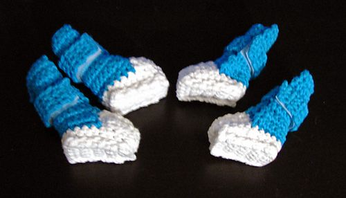 Small dog booties/shoes crocheting - pets Pinterest