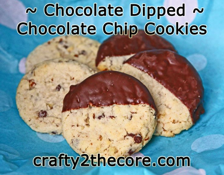 CHOCOLATE DIPPED- White Choc. Chip Macadamia Nut or Chocolate Chip ...