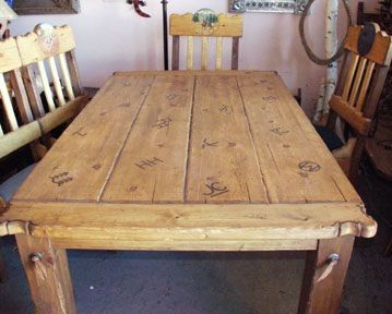 Western rustic dining table furniture projects painted furni