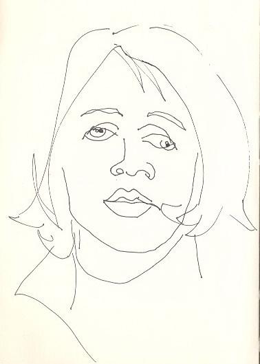Contour Line Drawing Of A Face : Contour line face inspiration pinterest