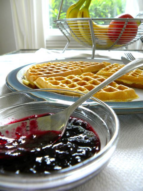 yummy and easy blueberry sauce | breakfast and brunch | Pinterest