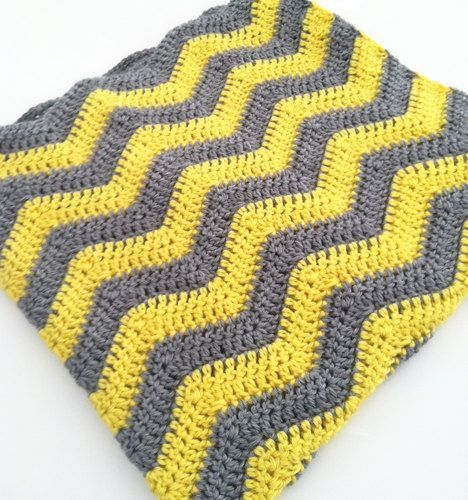 Crochet Patterns Zigzag : CROCHET ZIGZAG BLANKET / 30x30 / chevron pattern by ConleyCrochets, $ ...