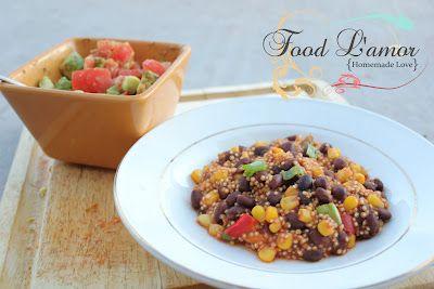 Black Bean Quinoa Fiesta & {Homemade} Guacamole Salsa | Food L'amor ...