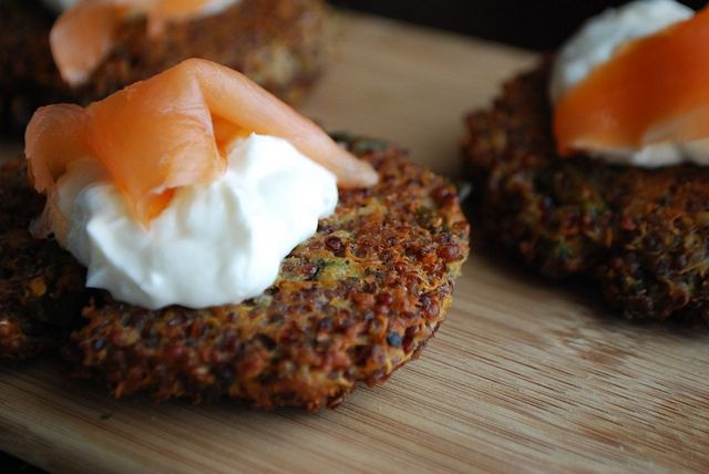 Salmon And Quinoa Patties With Lemon-Yogurt Sauce Recipe ...
