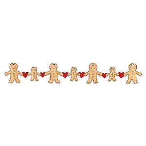 Sizzix 2x12 Gingerbread Man Border | Dies | Pinterest