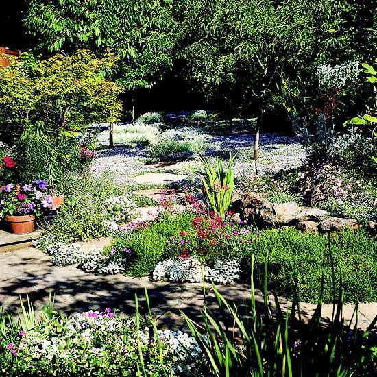 Garden Path Ideas Stepping Stone Walkways