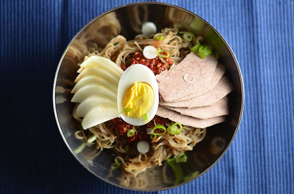 Korean spicy cold noodles | Savory | Pinterest