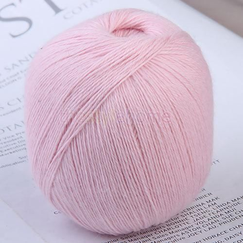 Cashmere Knitting Yarn : Soft 95% Cashmere Knitting Wool Yarn Light Pink 437yds #Thestyelehome ...