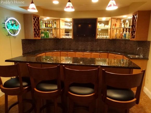 basement bar diy backsplash