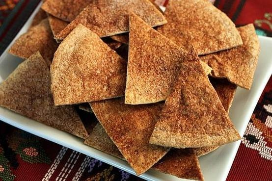 Cinnamon Sugar Baked Tortilla Chips (use Corn Tortillas Instead) With ...