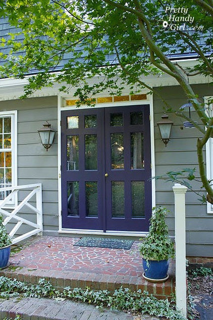 Purple front doors color palette ideas home ideas pinterest - Purple exterior paint image ...