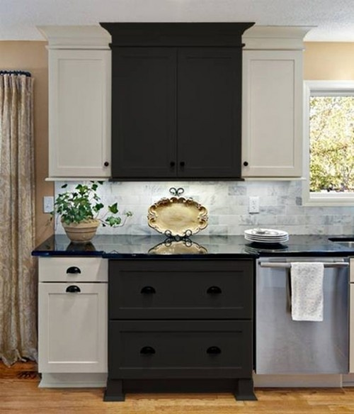 Two different colors for cabinets kitchens pinterest for Kitchen cabinets 2 colors
