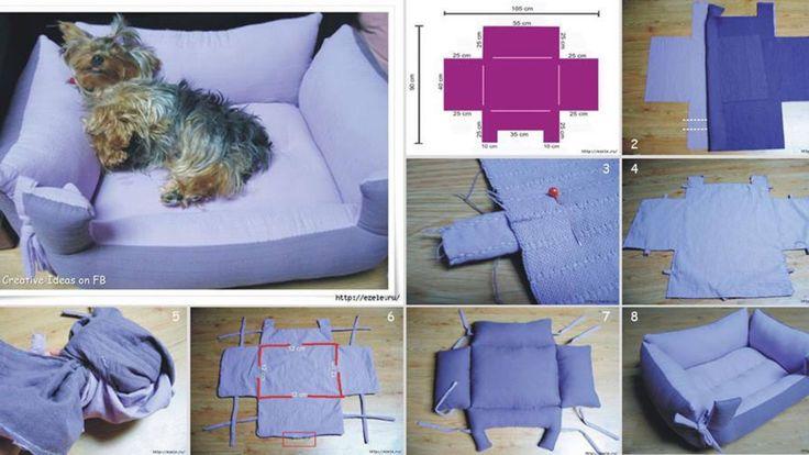 Diy Dog Bed Pets Pinterest