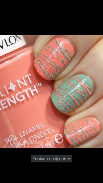 Fan brush nail art | nails | Pinterest