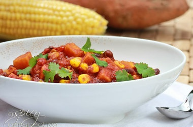 Vegetable Chili with Sweet Potatoes, Red Peppers and Fresh Corn ...
