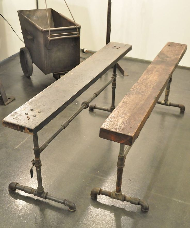 Pipe benches mimosa design pinterest for Diy galvanized pipe table